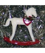 White Rocking Horse - 1982 Glass Christmas Ornament - $8.99