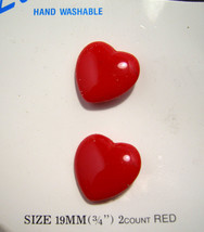 Red Heart Buttons 19mm   - $2.00