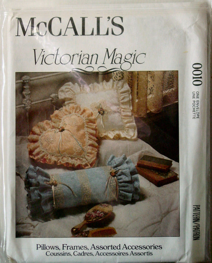 Pattern to make Victorian Frilly Bed Pillows, Frame, Box & Basket