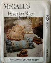Pattern to make Victorian Frilly Bed Pillows, Frame, Box & Basket - $5.00