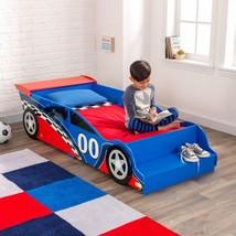Kidkraft 76040 Kids Blue Red Racecar Race Car Toddler Bed Cot NEW - $154.95