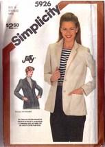 1983 UNLINED JACKET Pattern 5926-s Size 6-8-10 - UNCUT - $9.99