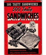 500 Tasty SANDWICHES - 1941 SC Cook Booklet - $9.99