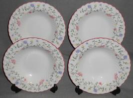 Set (4) Johnson Brothers SUMMER CHINTZ PATTERN Rimmed Soup Bowls ENGLAND  - $39.59