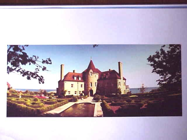 Carcassonne Castle MArblehead MA  LIMITED EDITION ART PANORAMA  PHOTOGRAPH