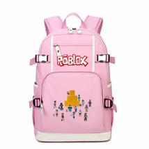 Roblox Kid Backpack Schoolbag Bookbag Daypack Pink Large Bag G - $51.97 CAD