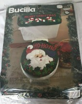 Bucilla Ho Santa Christmas Kit Sequined Toilet Seat and Tank Cover Sealed 83268 - $34.64