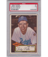 Andy Pafko 1952 Topps #1 PSA 3 VG - $349.00