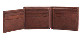 Tommy Hilfiger Men's Extra Capacity RFID Leather Traveler Wallet Tan 31TL240006 image 9