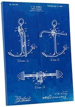 """Pingo World 0301Q3ZZPBS """"Ship Anchor Patent"""" Gallery Wrapped Canvas Print, 30"""" x - $58.36"""
