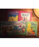 Set of 5 Sesame Street books Elmo Big Bird Grover Bert Ernie Herry Anima... - $9.98