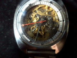 Citizen Double Sided Skeleton 8060A Vintage Automatic Early 1970's Men'... - $415.80