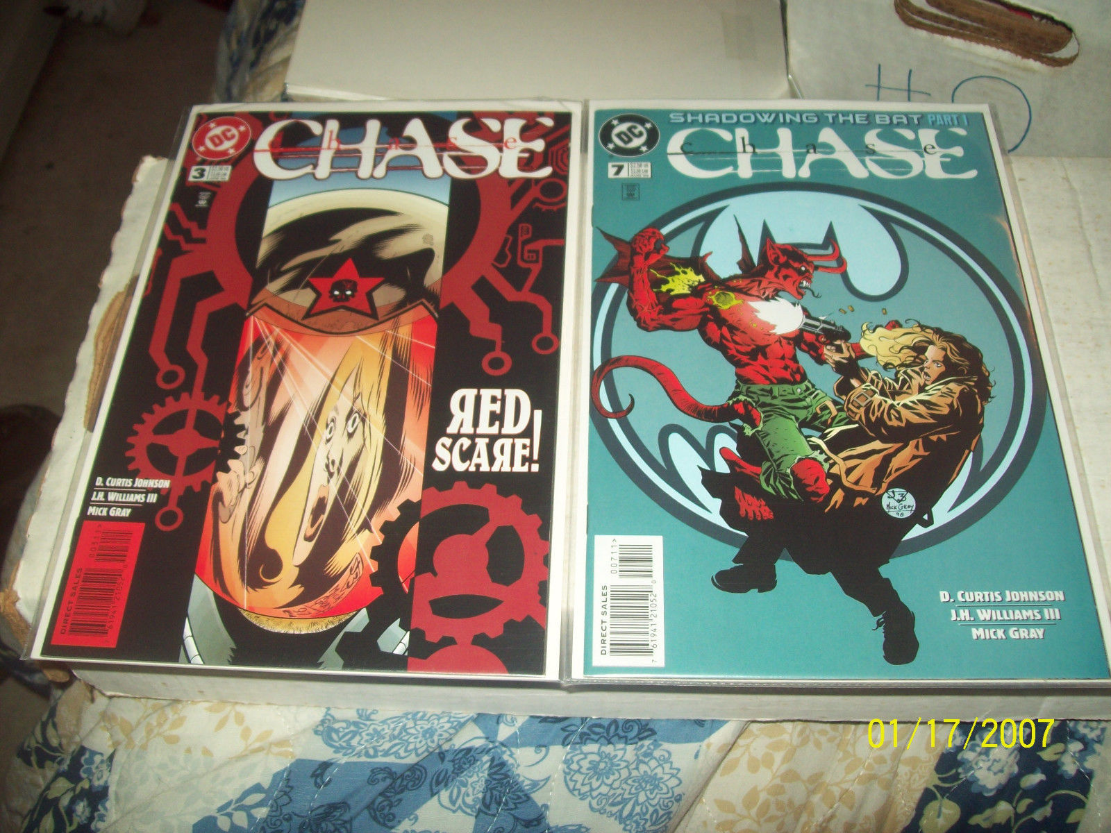 CHASE 1, 2, 3, 7, 8, 9,