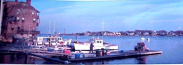 MArblehead MA HARBOR GLOVER LANDING  panoramic   PHOTOGRAPH picture