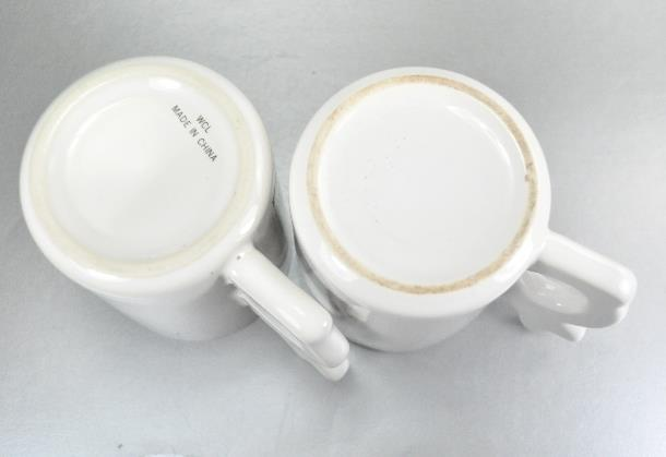 2 Cottontail Rabbit Garden Bunny Handle Coffee Mugs Cups