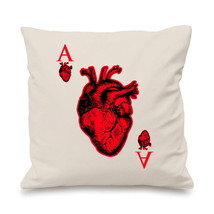 Ace Of Hearts Cool Hip Casino Card Gambling Pillow Cushion Cover Gift - $9.06+