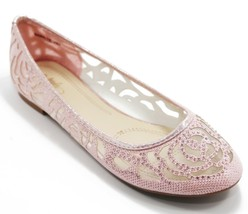 Women Shoes Ballet Flat Shoes Lace Glitter Mesh Flat Loafer Casual Shoes... - $19.99