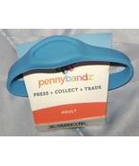 "ELONGATED PENNY BRACELET 7.68""  BLUE PENNYBANDZ PRESSED SQUISHED COIN HO... - $4.95"