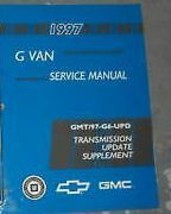 1997 Chevy Express Gmc Savana G Van Service Repair Shop Manual Trans Supplement - $5.94