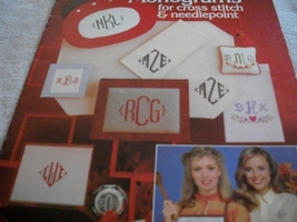 Charted Monograms for Cross Stitch and Needlepoint - $3.00
