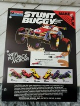 Monogram 1985 form 1pg advertisement stunt buggy plastic model kit (A10) - $9.90
