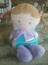 Kids Preferred Baby Doll Plush Stuffed Soft Baby Toy Purple Blue Pink Pi... - $7.91