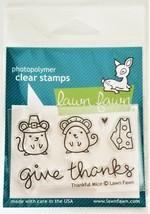 "Lawn Fawn ""Thankful Mice"" Stamp Set"