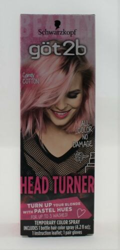Primary image for Schwarzkopf got 2b Heat Turner Candy Cotton (Pink) Temporary Color Spray 4.2floz