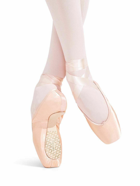 Capezio Contempora 176 European Pink Pointe Shoes Size 4D 4 D