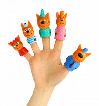"""Finger theater """"three cats"""" (puppet theater). Children's set of 5 toys - $28.42"""