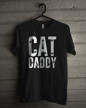 Cat Daddy Dog T-shirt New Black T-shirt For Men's - £13.78 GBP