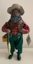 "New Santa Claus 10"" Figurine Collectible Santa Fishing Celebrate It - $9.49"
