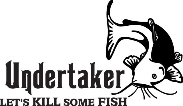 FISH DECAL #FH1/110  UNDERTAKER CATFISH POLE FLY SINKER ROD REEL CAR TRUCK SUV