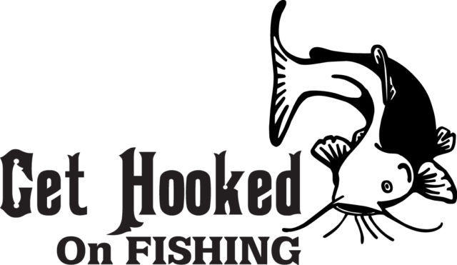 FISH DECAL #FH1/121 HOOKED FISHING CATFISH ROD REEL POLE BOBBER BAIT CAR TRUCK