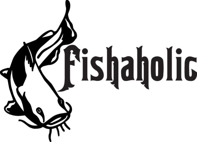 FISH DECAL #FH1/137 FISHAHOLIC BASS TROUT SALMON BAIT CATFISH POLE ROD CAR TRUCK