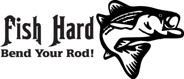 FISH DECAL #FH1/164 HARD BEND YOUR ROD BASS SALMON TROUT FLY POLE CAR TRUCK AUTO