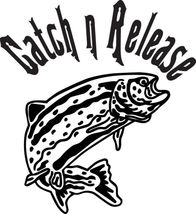 Fish Decal #Fh1/198 Catch N Release Trout Rod Reel Bobber Car Truck Auto Suv Van - $27.00