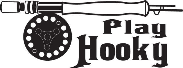 FISH DECAL #FH1/56 PLAY HOOKY  POLE REEL FLY NET BASS HOOK CAR TRUCK AUTO SUV