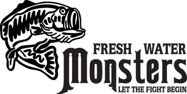 FISH DECAL #FH1/71 FRESH WATER MONSTERS ROD POLE SHARK SWORDFISH CAR TRUCK FUN