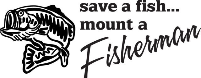 FISH DECAL #FH1/94 SAVE FISH MOUNT FISHERMAN TROUT ROD REEL RAINBOW LINE CAR