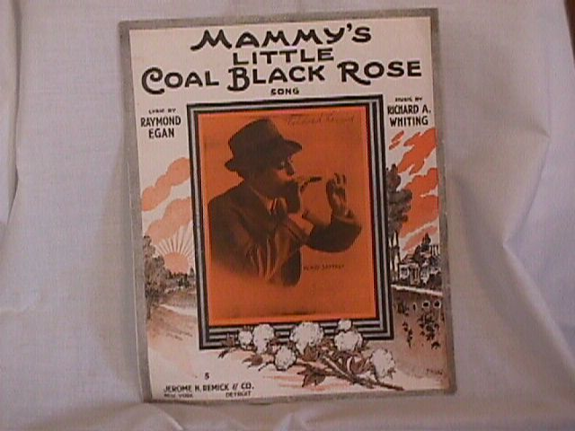 Mammys little Coal Black Rose Vintage 1916 Sheet Music