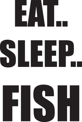 FISH DECAL #FH2/127 EAT SLEEP BASS TROUT ROD REEL POLE LURE CAR TRUCK AUTO SUV