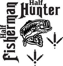 Fish Decal #Fh2/148 Bass Turkey Bird Half Hunter Fisherman Car Truck Auto Suv - $15.00