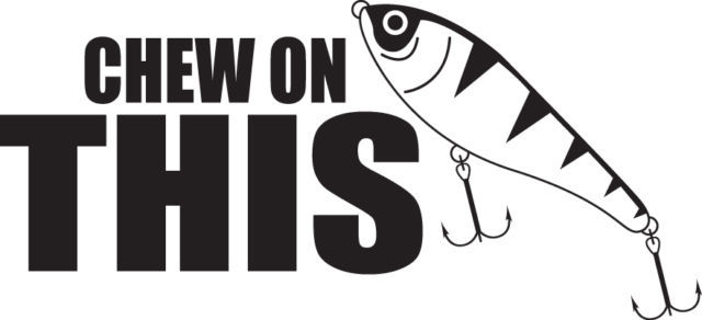 FISH DECAL #FH2/174 CHEW ON THIS LURE BAIT BOBBER LINE ROD REEL CAR TRUCK AUTO