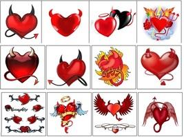 Devil Heart Temporary Tattoos  - $11.00