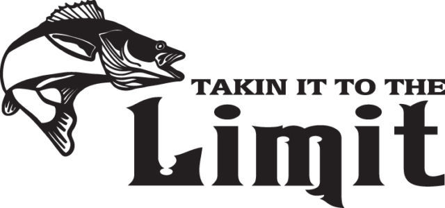FISH DECAL#FH2/255 TAKEN IT TO THE LIMIT WALLEYE ROD REEL POLE LURE CAR TRUCK