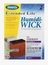 2pk New BEST AIR ESW-C Humidiwick Humidifier Wick Filter Kenmore Emerson... - $18.81