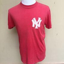 Vintage New York Yankees Shirt Size M Oneita Power T Red tee shirt vtg  - $29.99