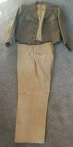 Vintage 1940s WWII Era Army Service Forces Sergeant Wool Jacket Pants  - $49.95