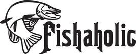 Fish Decal #Fh2/268 Fishaholic Pike Bait Rod Reel Tackle Car Truck Auto Suv Van - $24.00